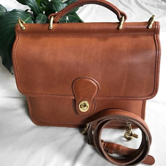 e587163d9c Coach Handbags - Vintage Coach Willis Bag British Tan no. 9927